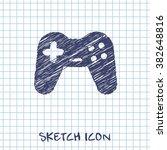 game joystick vector doodle...