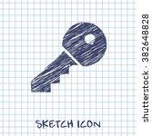 door key vector doodle icon....