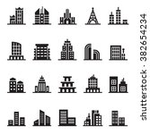 building icon set | Shutterstock .eps vector #382654234