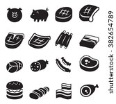 pork icon | Shutterstock .eps vector #382654789