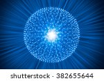 nucleus of atom nuclear explode ... | Shutterstock . vector #382655644