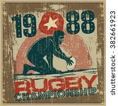 "retro design poster ""rugby"".... 