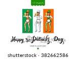 st. patrick's day lettering... | Shutterstock .eps vector #382662586