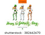 st patricks day typographic ... | Shutterstock .eps vector #382662670