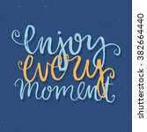 vector calligraphy. hand drawn... | Shutterstock .eps vector #382664440