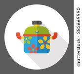 kitchenware pot flat icon | Shutterstock .eps vector #382669990