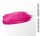 vector pink watercolor brush... | Shutterstock .eps vector #382687144