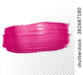 vector pink watercolor brush... | Shutterstock .eps vector #382687180