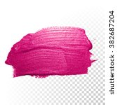 vector pink watercolor brush... | Shutterstock .eps vector #382687204