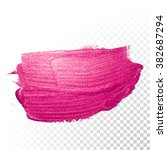 vector pink watercolor brush... | Shutterstock .eps vector #382687294
