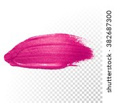 vector pink watercolor brush... | Shutterstock .eps vector #382687300