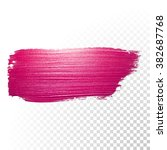 vector pink watercolor brush... | Shutterstock .eps vector #382687768