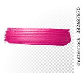 vector pink watercolor brush... | Shutterstock .eps vector #382687870