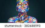 bright beautiful girl with art... | Shutterstock . vector #382688593