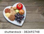 healthy lifestyle diet concept...   Shutterstock . vector #382692748