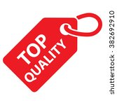 top quality tag. red color.... | Shutterstock .eps vector #382692910