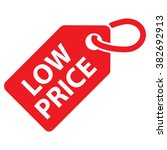 low price tag. red color.... | Shutterstock .eps vector #382692913
