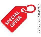 special offer tag. red color.... | Shutterstock .eps vector #382692916