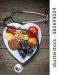 healthy lifestyle diet concept...   Shutterstock . vector #382693024
