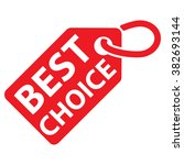 best choice tag. red color.... | Shutterstock .eps vector #382693144
