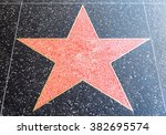 empty star on hollywood's walk... | Shutterstock . vector #382695574