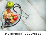 healthy lifestyle and... | Shutterstock . vector #382695613