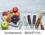 healthy lifestyle concept with... | Shutterstock . vector #382697110