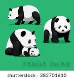 bear panda bear cartoon vector... | Shutterstock .eps vector #382701610