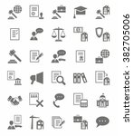 legal services flat icons.... | Shutterstock .eps vector #382705006