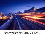 subway tunnel with motion blur... | Shutterstock . vector #382714240