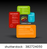 vector company infographic... | Shutterstock .eps vector #382724050