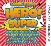 creative high detail comic font.... | Shutterstock .eps vector #382734274