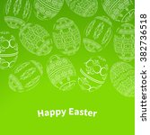 happy easter background with... | Shutterstock .eps vector #382736518