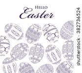 happy easter background with... | Shutterstock .eps vector #382736524