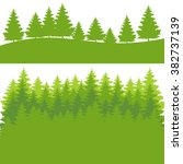 pine forest. colourful green... | Shutterstock .eps vector #382737139