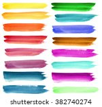 set of colorful watercolor... | Shutterstock . vector #382740274