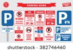 car parking sign  no parking... | Shutterstock .eps vector #382746460