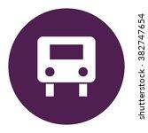 bus. vector icon purple