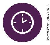 clock. vector icon purple