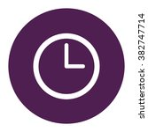 clock face. vector icon purple