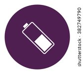 low battery. vector icon purple