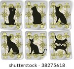 silhouettes  cats  vector...   Shutterstock .eps vector #38275618