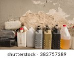 plastic containers  oil can ... | Shutterstock . vector #382757389