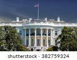 white house on deep blue sky...