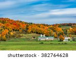 Fall Foliage At A Farm In...