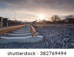 construction of a modern railway | Shutterstock . vector #382769494