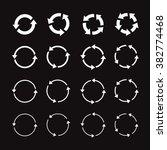 set of white circle vector... | Shutterstock .eps vector #382774468