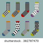set of  socks with geometric... | Shutterstock .eps vector #382787470