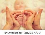 composition of small children's ... | Shutterstock . vector #382787770