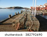 cages for seafood on the west... | Shutterstock . vector #382792690